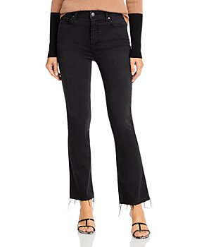 PAIGE - Claudine Raw Hem Flare Jeans in Slater