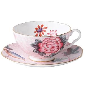 Wedgwood Cuckoo Tea Story Tea Cup  Saucer Pink