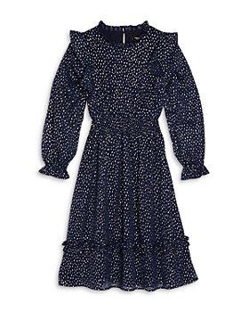 AQUA - Girls' Flutter Sleeve Dress, Big Kid - 100% Exclusive