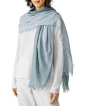 Eileen Fisher - Frayed Wool Blend Scarf