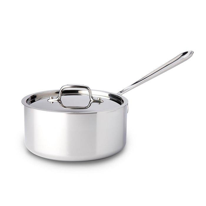All-Clad - Stainless Steel 3-Quart Saucepan with Lid