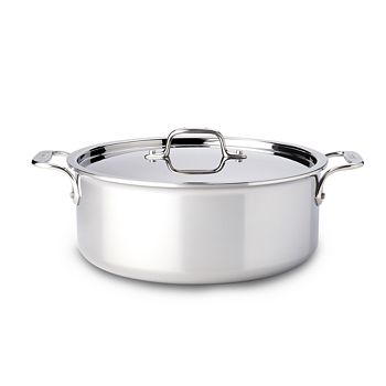 All-Clad - Stainless Steel 6-Quart Stock Pot with Lid