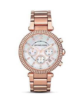 2ec4cd4e3271 Michael Kors - Parker Pavé Chronograph Bracelet Watch