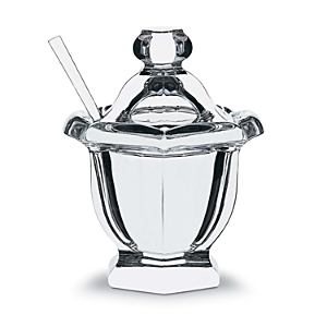 Baccarat Small Jam Jar With Spoon