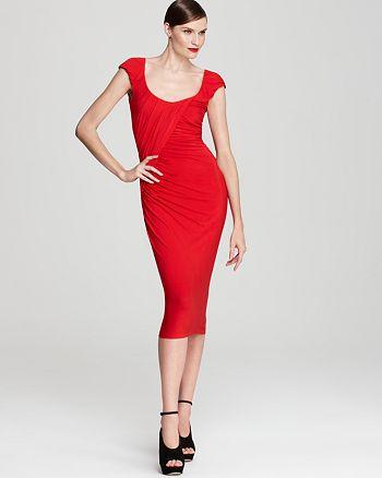 Donna Karan - Twisted Draped Dress