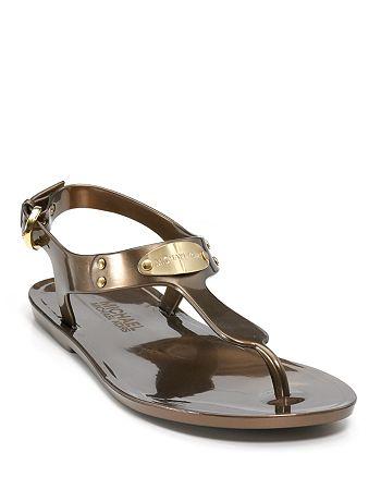 Kors Mk Plate Sandals JellyBloomingdale's Michael QrxsthdC