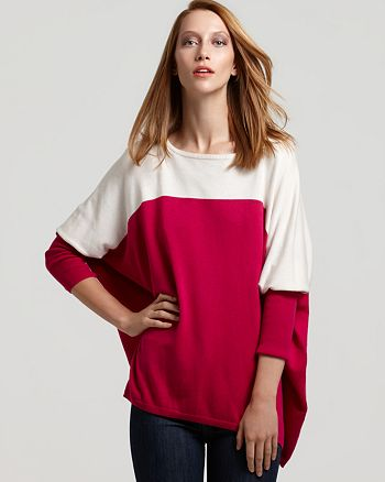 VINCE CAMUTO - Color Block Dolman Sleeve Sweater