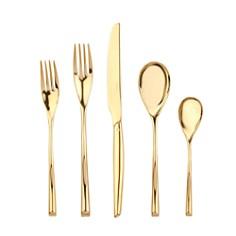 "Sambonet - ""H Art Gold"" 5 Piece Place Setting"