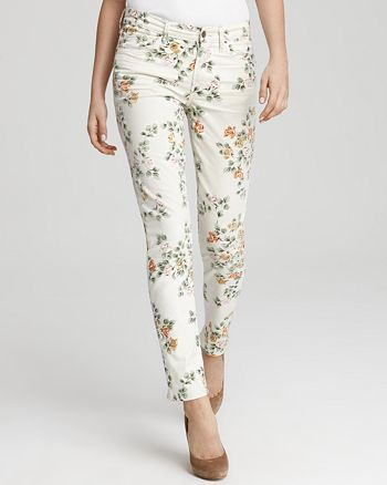 "Citizens of Humanity - Jeans - ""Mandy"" Floral Print High Waist Roll Up"