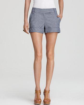 AQUA - Chambray Shorts - 100% Exclusive