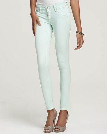 Hudson - Collin Skinny Jeans in Mint