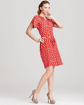 Tucker - Short Sleeve Polka Dot Dress
