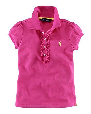 923a619b9 Ralph Lauren - Ralph Lauren Childrenswear Toddler Girls' Polo Shirt - Sizes  ...