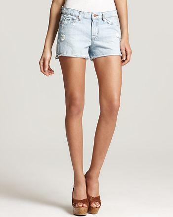 J Brand - Low Rise Cutoff Denim Shorts