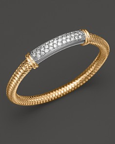 Roberto Coin 18K Yellow Gold Primavera Mesh Bangle with White Gold and Diamond Bar, 1.35 ct. t.w. - Bloomingdale's_0