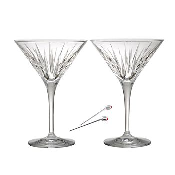 Reed & Barton - Soho Martini Glasses & Olive Picks, Set of 2