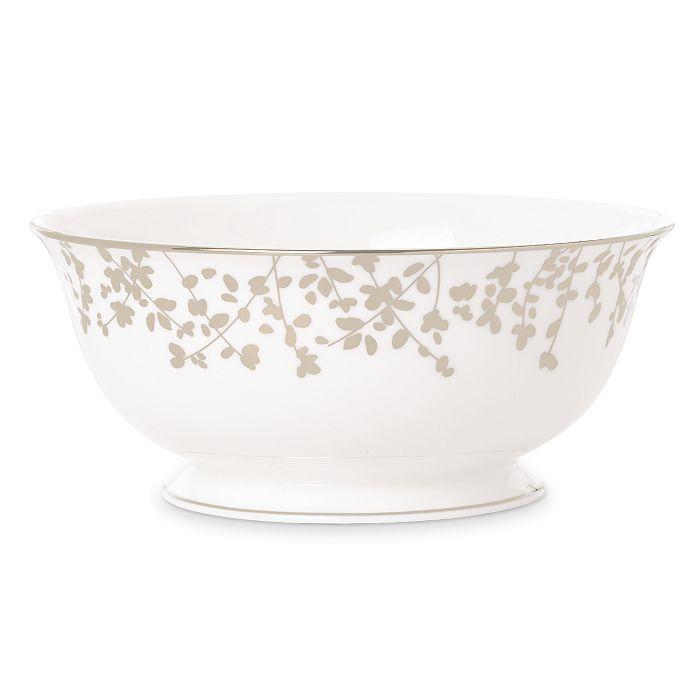 kate spade new york - Kate Spade Gardner Street Platinum Serving Bowl