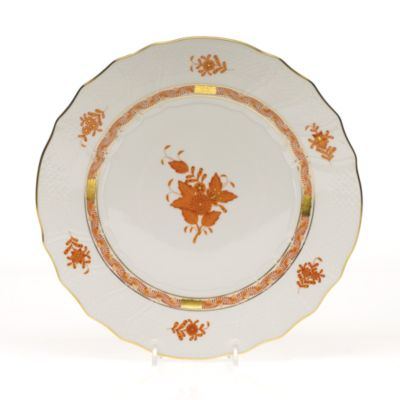 Chinese Bouquet Dinner Plate, Rust
