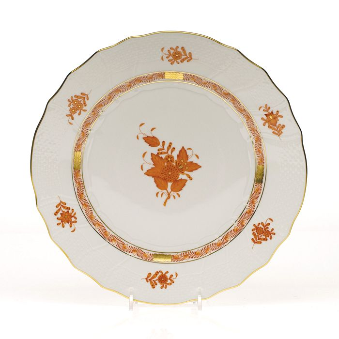 Herend - Chinese Bouquet Dinner Plate, Rust