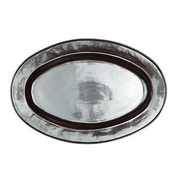 "Juliska - Pewter Stoneware Oval Platter, 21"""