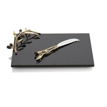 Michael Aram - Olive Branch Gold Cheeseboard with Knife