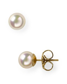 Majorica Simulated Pearl Stud Earrings, 8mm - Bloomingdale's_0