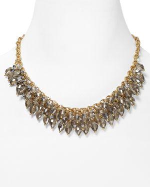 Abs by Allen Schwartz Chain Beaded Frontal Necklace, 16