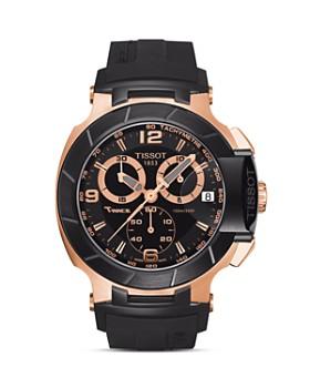 Tissot - Tissot T-Race Men's Black Quartz Chronograph Rubber Watch, 50mm