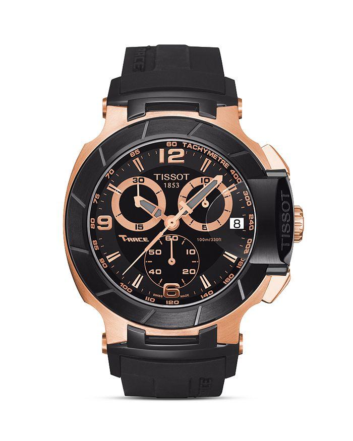 Tissot - T-Race Men's Black Quartz Chronograph Rubber Watch, 50mm