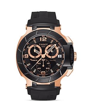Tissot T-Race Men's Black Quartz Chronograph Rubber Watch, 50mm