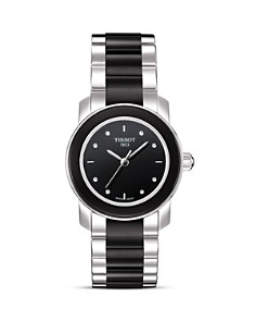 Tissot Cera Women's Black Diamonds Ceramic Quartz Watch, 28mm - Bloomingdale's_0