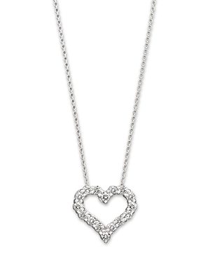 Diamond Heart Pendant Necklace in 14K White Gold, 0.25 ct. t.w. - 100% Exclusive