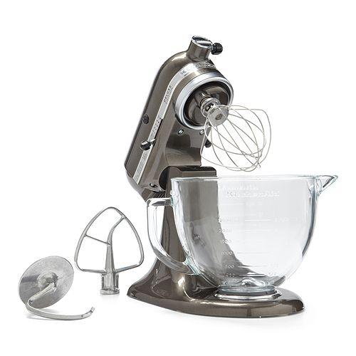 Kitchenaid Artisan Design 5 Quart Stand Mixer With Glass Bowl