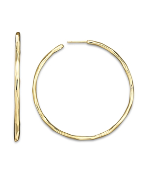Ippolita 18K Gold #4 Glamazon Faceted Hoops-Jewelry & Accessories