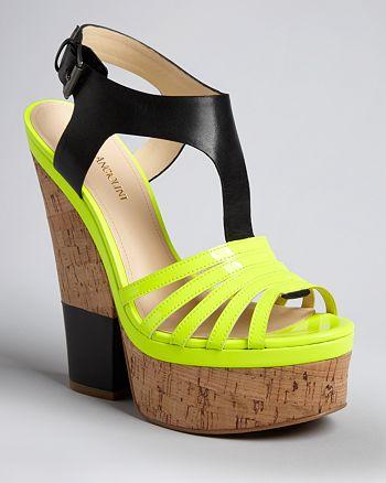 Enzo Angiolini - T Strap Platform Wedge Sandals - Gigio