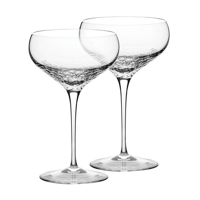 Sequin Saucer Champagne Gl Set Of 2