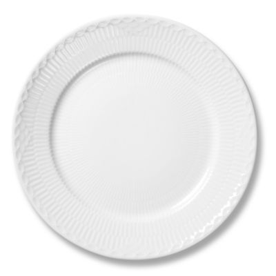 White Fluted Half Lace Soup Plate