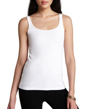 Eileen Fisher Petites System Scoop Neck Tank