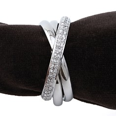 L'Objet Napkin Jewels, Platinum Triple-Ring, Set of 4 - Bloomingdale's Registry_0