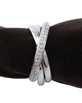 L'Objet - L'Objet Napki Jewels, Platinum Triple-Ring, Set of 4