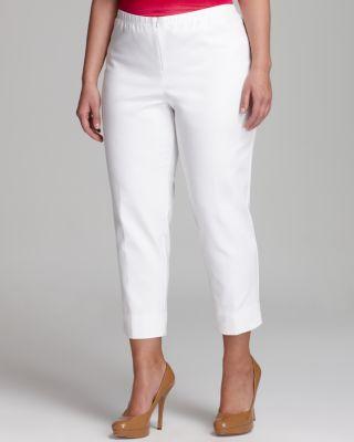 KAREN KANE PLUS Stretch Capri Pants in White