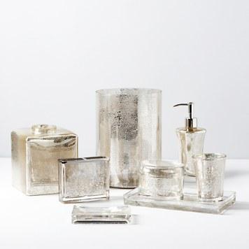Mercury Glass Bathroom Accessories. Kassatex Vizcaya Bath Accessories