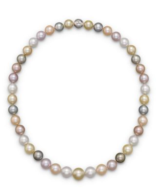TARA PEARLS Natural Multicolor Freshwater, Tahitian, White South Sea And Gold South Sea Cultured Pearl Strand Ne