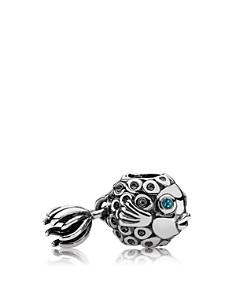 PANDORA Moments Collection Sterling Silver & Deep Blue Topaz Splish-Splash Charm - Bloomingdale's_0