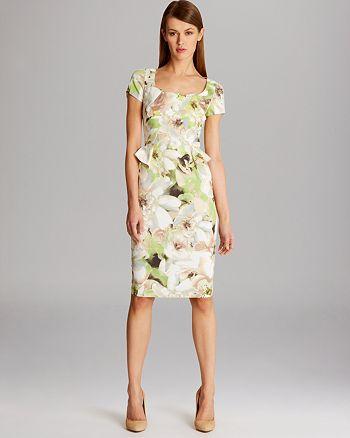 KAREN MILLEN - Painterly Floral Print Dress
