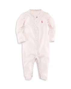 Ralph Lauren Girls' Floral Trim Coverall - Baby - Bloomingdale's_0