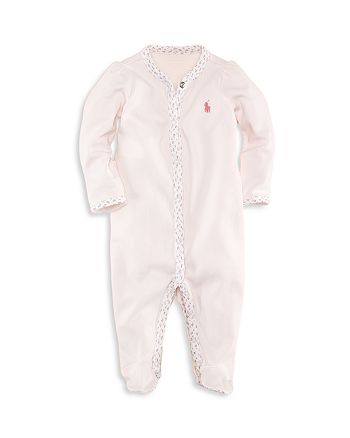 Ralph Lauren - Girls' Floral Trim Coverall - Baby