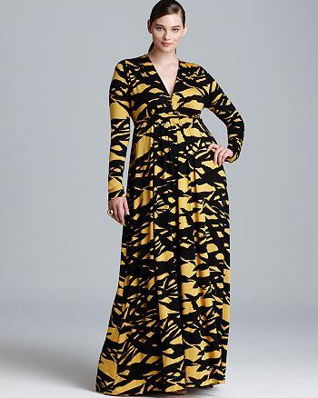 b273b3ca762 Rachel Pally White Label Plus Long Sleeve Full Length Caftan Dress ...
