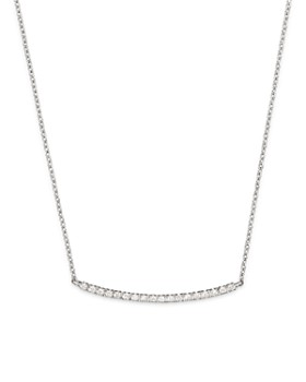c9746325c851 Meira T - 14K White Gold and Diamond Bar Necklace