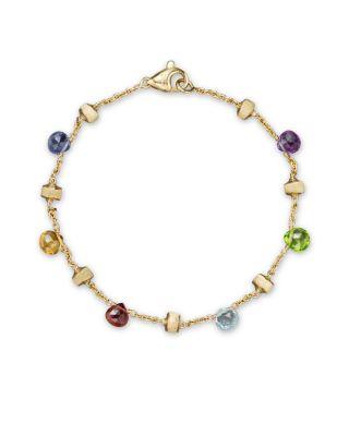 MARCO BICEGO 'Paradise' Single Strand Bracelet in Yellow Gold/ Multi